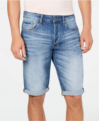 G Star Men Cuffed Denim Shorts