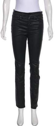 Tory Burch Mid-Rise Coated Jeans