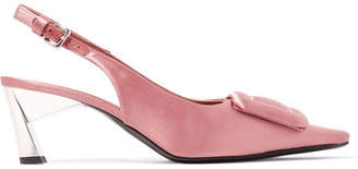 Marni Satin Slingback Pumps - Antique rose