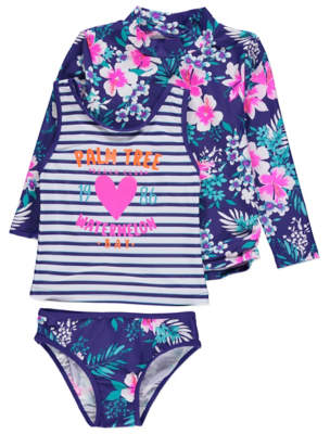 b23ce40f76ee8 George Tropical Print Sun Protection UV40 Swimsuit Set
