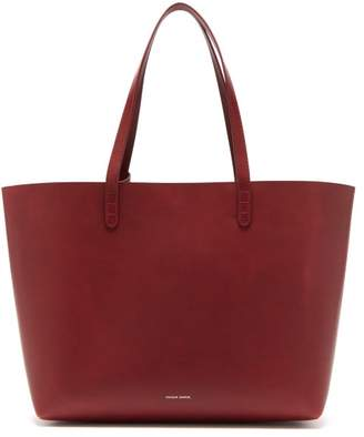 Mansur Gavriel Large Leather Tote Bag - Womens - Burgundy