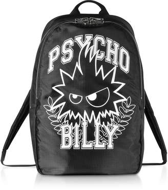 McQ Psycho Billy Black Nylon Backpack