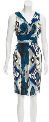 Altuzarra Silk Ikat Print Dress