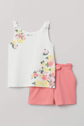 H&M Tank Top and Shorts - White