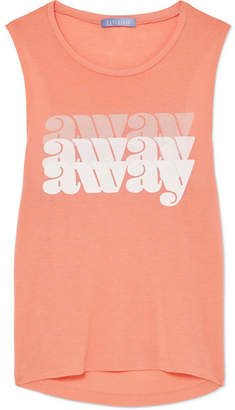 Paradised - Away Printed Jersey Tank - Pastel orange