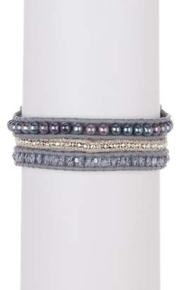 Chan Luu Triple Strand Beaded Bracelet