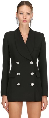 Alessandra Rich Lvr Edition Wool Blazer Dress