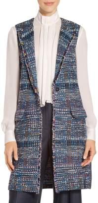 St. John Water Color Placed Knit Vest