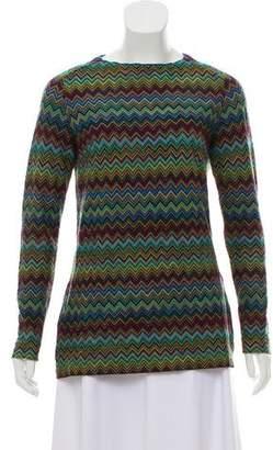 Missoni Wool Long Sleeve Chevron Knit Top