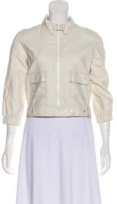 Proenza Schouler Linen Biker Jacket