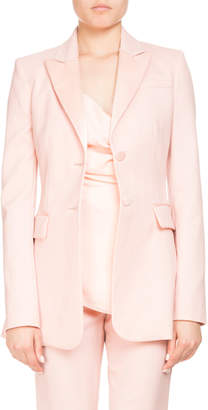 Altuzarra West Two-Button Satin-Trim Wool Tux Blazer