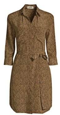 L'Agence Silk Stella Cheetah Shirtdress