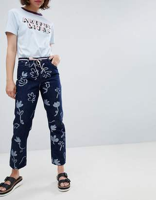 Paul Smith PS PS by Floral Print Jean