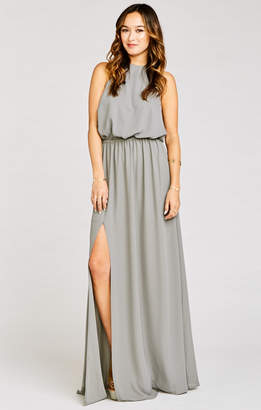 Show Me Your Mumu Heather Halter Dress ~ Soft Charcoal Crisp
