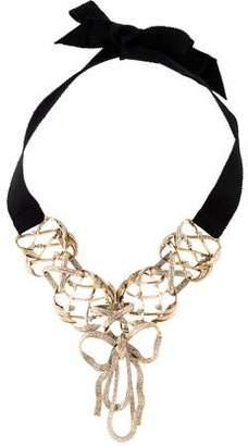 Chanel Bow & Ribbon Choker Necklace