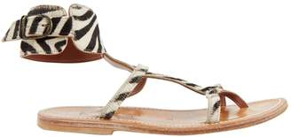 K. Jacques Black Pony-style calfskin Sandals