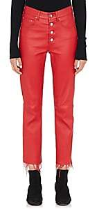 Amiri Women's Leather Crop Pants - Red