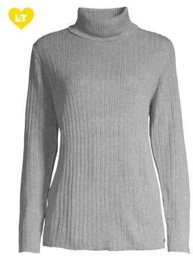Calvin Klein Ribbed Jersey Turtleneck Sweater