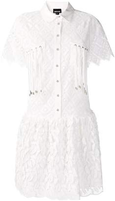 Just Cavalli embroidered flared dress