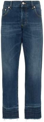Alexander McQueen faded slim jeans