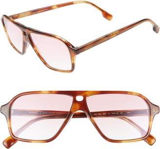 Morgenthal Frederics MONSE X Traci 57mm Square Sunglasses