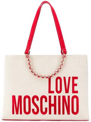 Love Moschino logo print shopper tote 3bfa95e5aa3cb