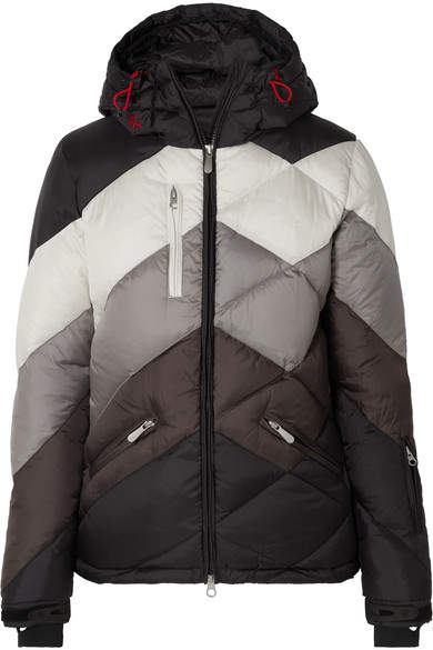 Perfect Moment - Super 2 Hooded Quilted Jacket - Black