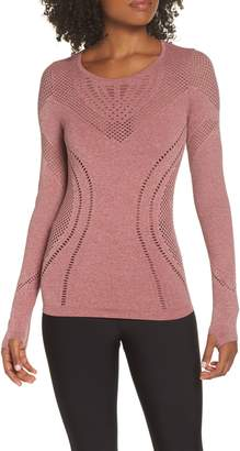 Alo Lark Mesh Inset Long Sleeve Yoga Top