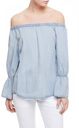 Petite Women's Sanctuary Off The Shoulder Blouse $89 thestylecure.com