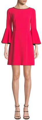 Trina Turk Bromely Trumpet-Sleeve Mini Dress