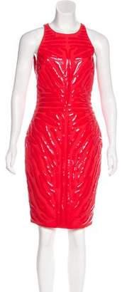 Versace Appliqué Sheath Dress