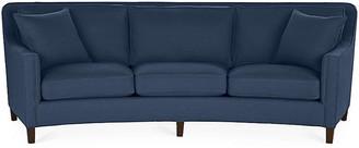 Cayman Curved Sofa - Indigo Linen - Miles Talbott