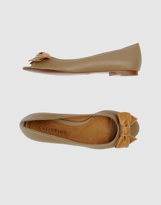CAFe'NOIR Peep-toe ballet flats