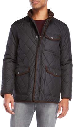 Hart Schaffner Marx Mulberry Diamond Quilted Jacket
