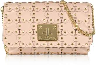RED Valentino Flower Puzzle Genuine Leather Clutch