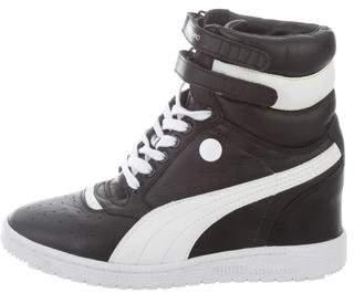 Puma by Mihara High-Top Wedge Sneakers