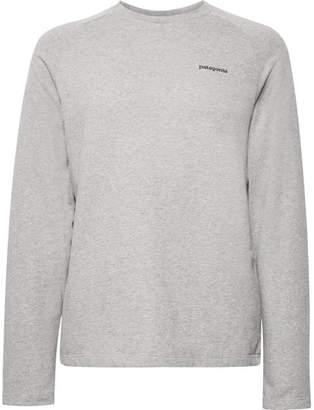Patagonia P-6 Logo-Print Loopback Organic Cotton-Blend Jersey Sweatshirt
