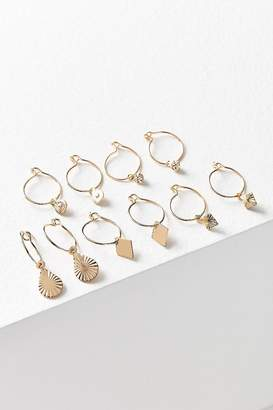 Urban Outfitters Charmed Hoop Earring Set