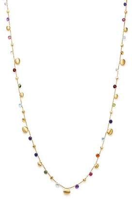 "Marco Bicego 18K Yellow Gold Paradise Teardrop Long Gemstone Necklace, 34"""