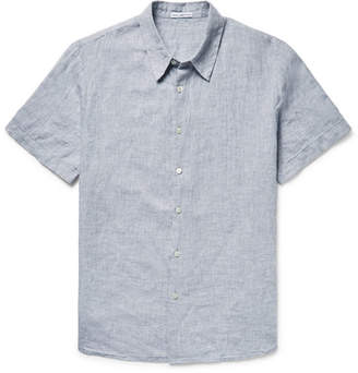 James Perse Slim-Fit Slub Linen Shirt