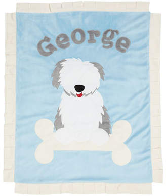 Boogie Baby Personalized Puppy Love Plush Blanket, Blue