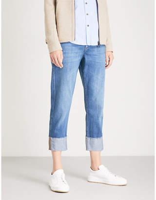 Brunello Cucinelli Turn-up cotton-denim jeans