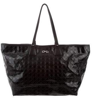 564a76502bef Pre-Owned at TheRealReal · Salvatore Ferragamo Gancio-Embossed Leather Tote