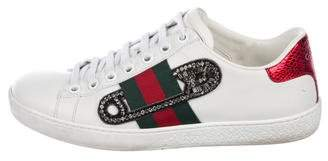 Gucci 2018 Ace Safety Pin Sneakers