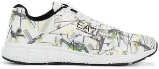 Emporio Armani Ea7 printed lace-up sneakers