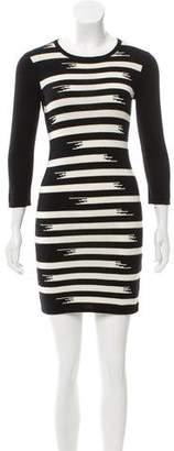 Gryphon Intarsia Mini Dress