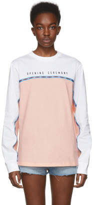 Opening Ceremony Pink and White Limited Edition Long Sleeve Echo T-Shirt