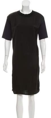 Marni Satin-Accented Shift Dress