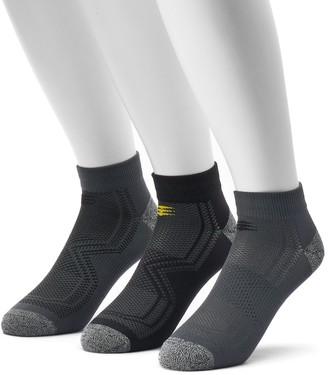 PowerSox Men's 3-pack Tech Series Tactel Low-Cut Socks