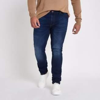 River Island Big and Tall blue Sid skinny jeans